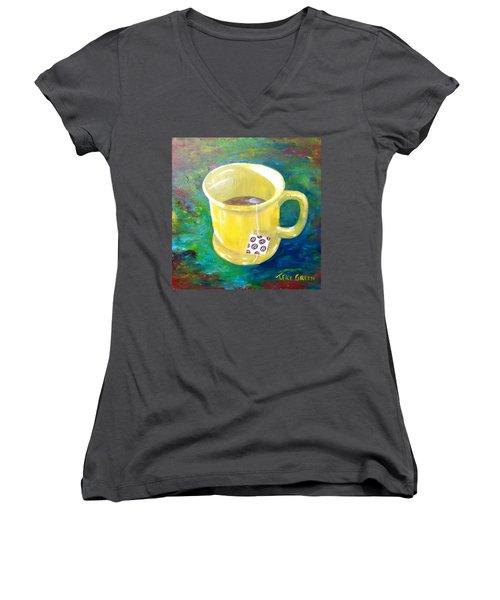 Morning Tea Women's V-Neck T-Shirt