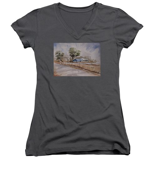 Morning Walk 2 Women's V-Neck T-Shirt