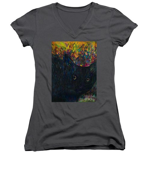 Morticia Women's V-Neck (Athletic Fit)