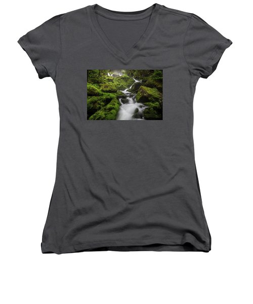 Mossy Fall #3 Women's V-Neck T-Shirt