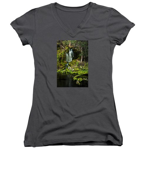 Mossy Falls Women's V-Neck (Athletic Fit)