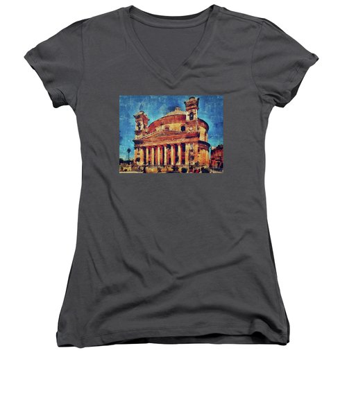 Mosta Church Women's V-Neck