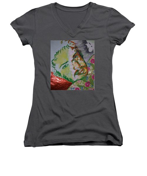 Mothering Max Women's V-Neck T-Shirt (Junior Cut)