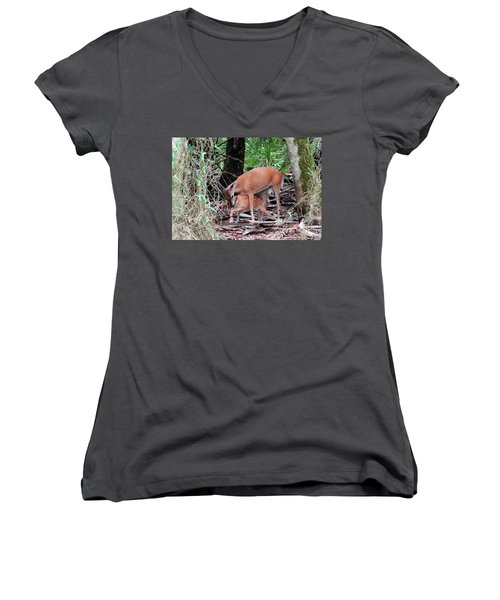 Mother's Care Women's V-Neck (Athletic Fit)