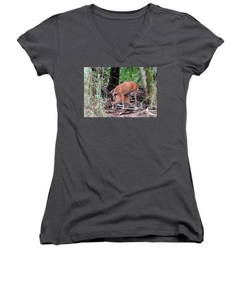 Mother's Care Women's V-Neck T-Shirt