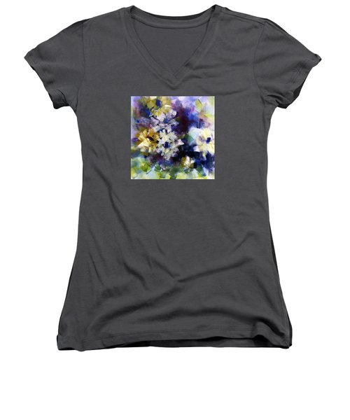Mothers Day Women's V-Neck T-Shirt (Junior Cut) by Katie Black