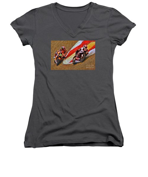 Moto2 Johann Zarco Leads Sam Lowes Women's V-Neck
