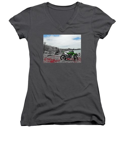 Motocross Women's V-Neck T-Shirt