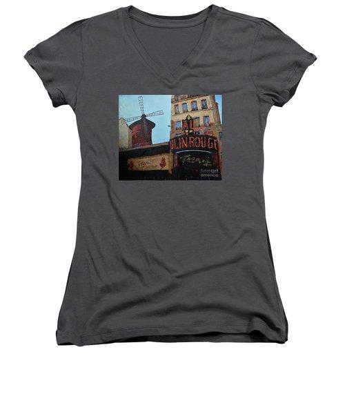 Moulin Rouge Women's V-Neck T-Shirt