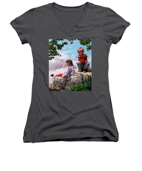 Mount Innocence Women's V-Neck T-Shirt