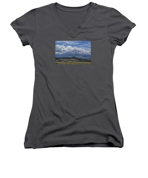 Mount Shasta 9950 Women's V-Neck T-Shirt (Junior Cut) by Tom Kelly