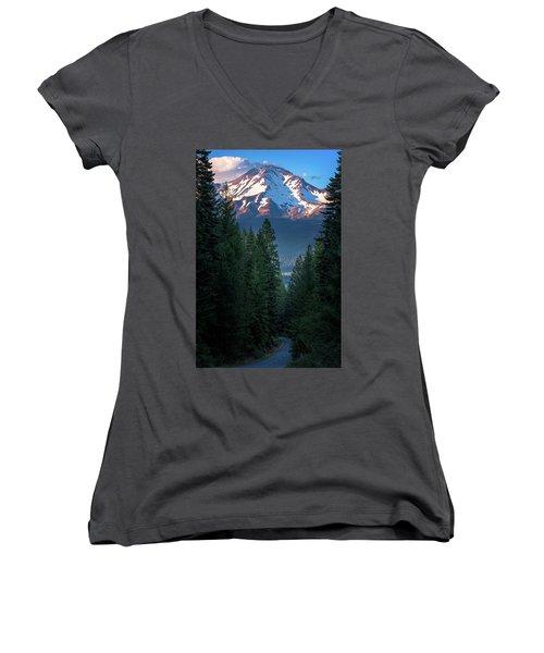 Mount Shasta - A Roadside View Women's V-Neck