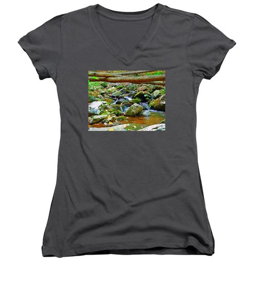 Mountain Appalachian Stream 2 Women's V-Neck