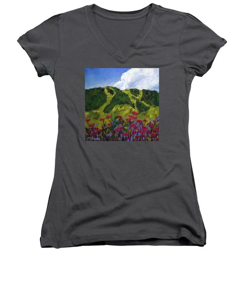 Mountain Blooms Women's V-Neck (Athletic Fit)