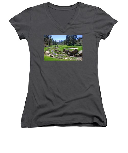 Mountain Golf Course Women's V-Neck (Athletic Fit)
