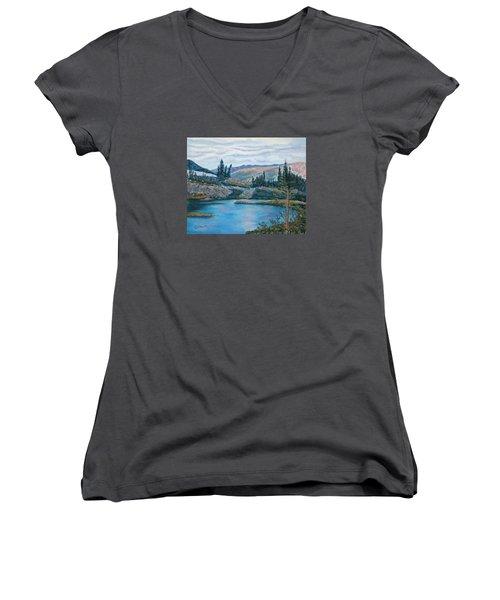 Mountain Lake Women's V-Neck T-Shirt
