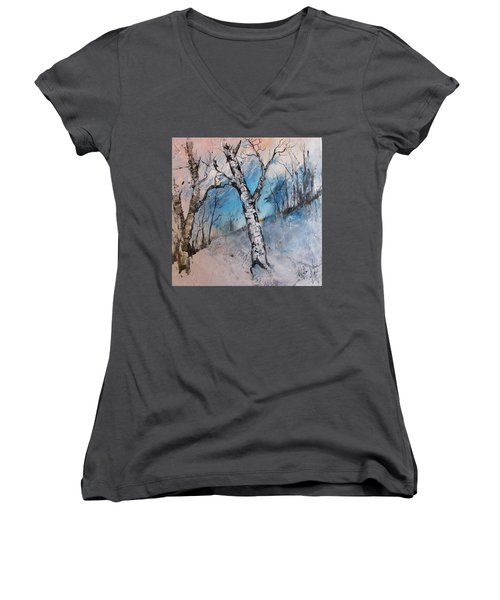 Mountain Morning Women's V-Neck (Athletic Fit)