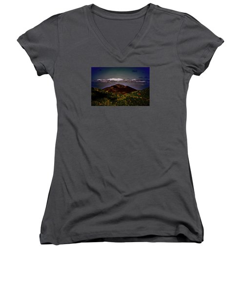 Women's V-Neck T-Shirt (Junior Cut) featuring the photograph Mountain Of Love by B Wayne Mullins