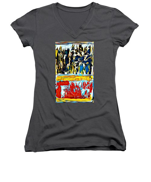Mountain Of Many Faces Women's V-Neck