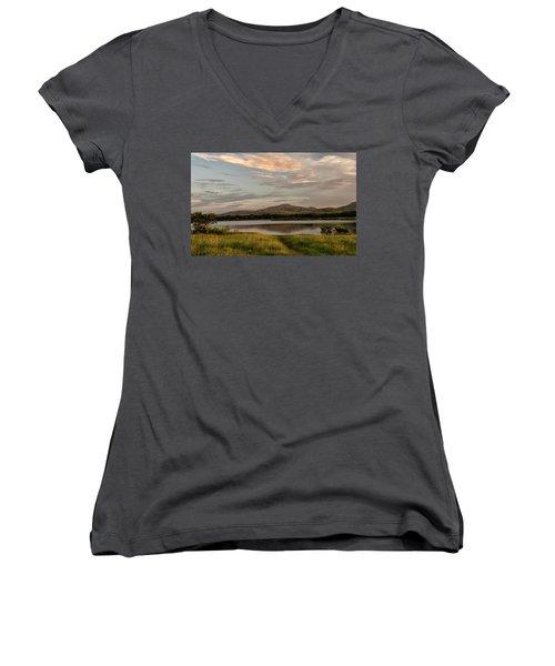 Mountain Reflections Women's V-Neck T-Shirt