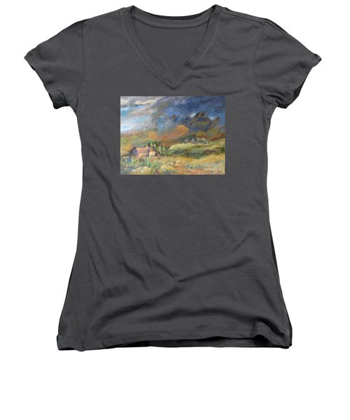 Mountain Storm Women's V-Neck (Athletic Fit)
