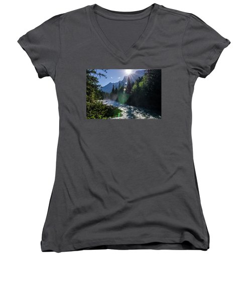 Mountain Sunburst Women's V-Neck