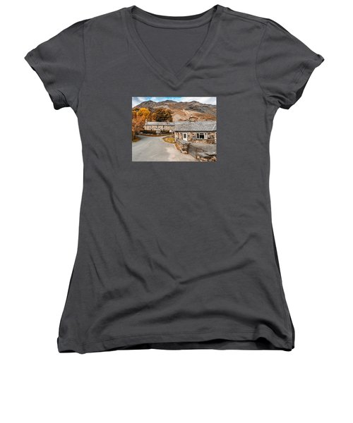 Mountains In The Back Yard Women's V-Neck (Athletic Fit)