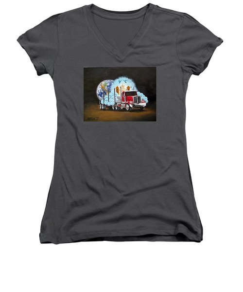 Moving Heaven And Earth  Women's V-Neck T-Shirt