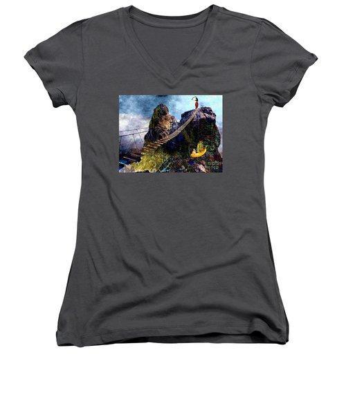 Moving Sideways Women's V-Neck T-Shirt