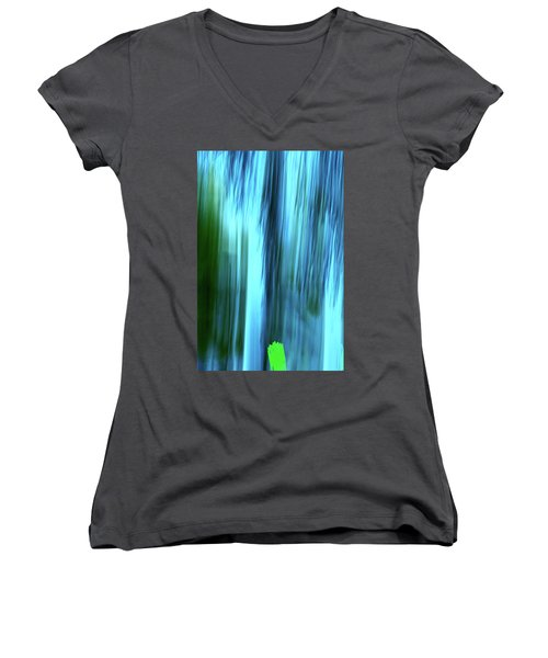 Moving Trees 37-15portrait Format Women's V-Neck (Athletic Fit)