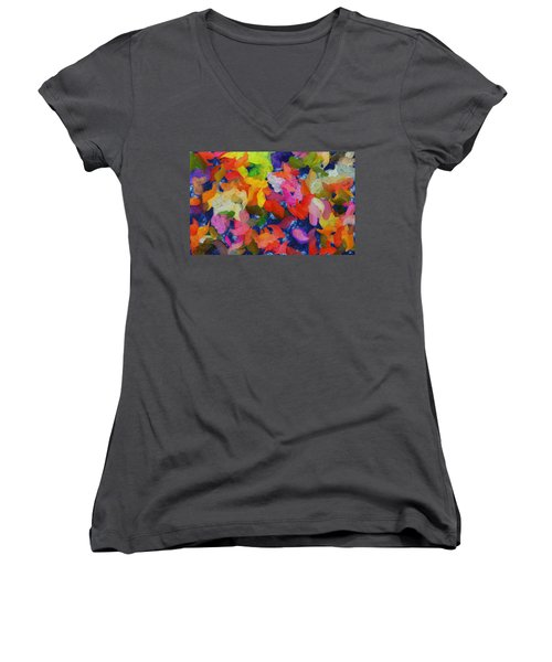 Mr Autumn Meets  Lady Spring - Painting - Wet Paint  Women's V-Neck T-Shirt