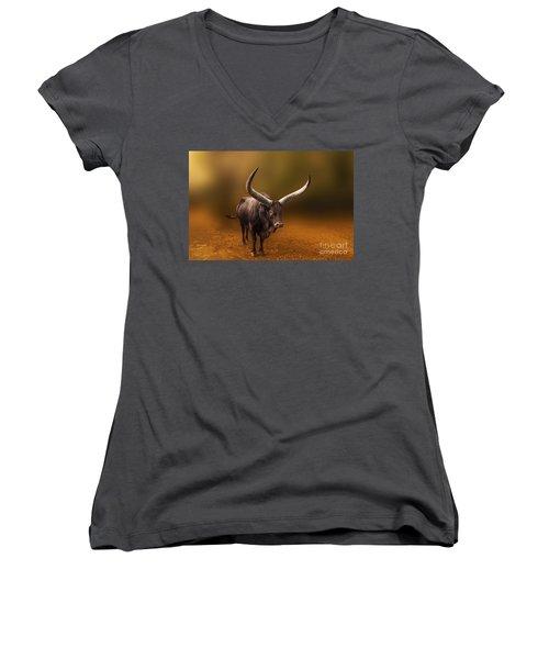 Mr. Bull From Africa Women's V-Neck T-Shirt