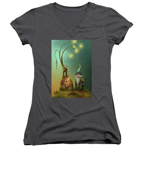 Mr Cogs Women's V-Neck T-Shirt