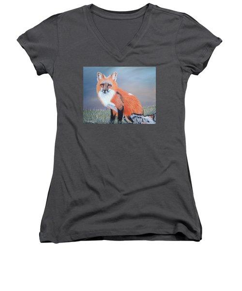Mr. Fox Women's V-Neck