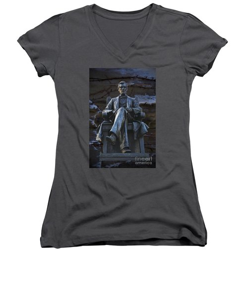 Mr. Lincoln Women's V-Neck T-Shirt