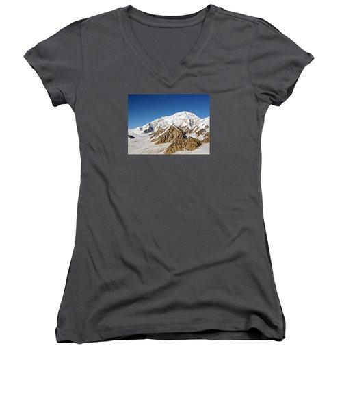 Mt Denali - Mount Mckinley Alaska Women's V-Neck