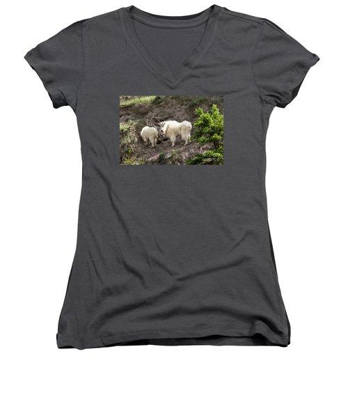 Mt Goat Outing Women's V-Neck T-Shirt