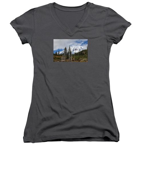 Mt. Rainier High Meadow Women's V-Neck T-Shirt