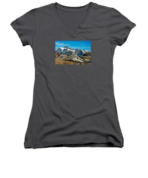 Mt. Shuksan, Washington Women's V-Neck