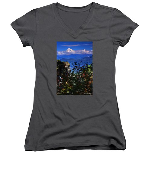 Mt.hood N Fall Women's V-Neck (Athletic Fit)