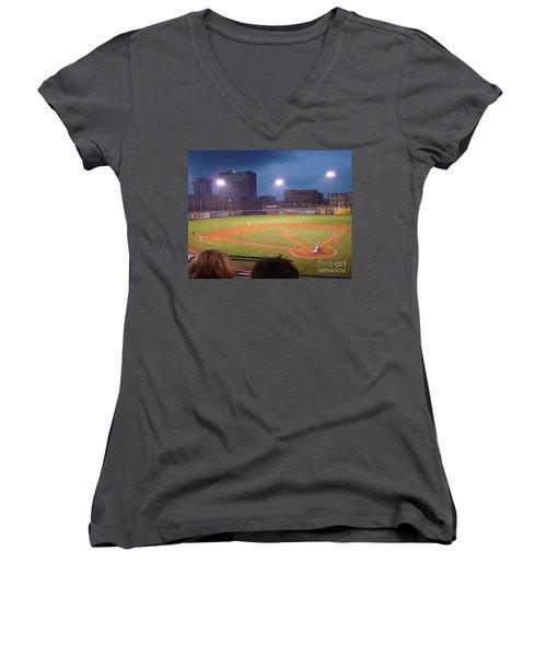 Mudhen's Game Women's V-Neck T-Shirt