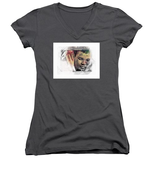 Muhammad Ali Women's V-Neck T-Shirt