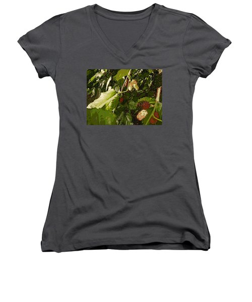 Mulberry Moment Women's V-Neck T-Shirt