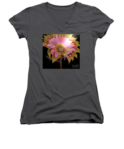 Multi Color Daisy Women's V-Neck (Athletic Fit)