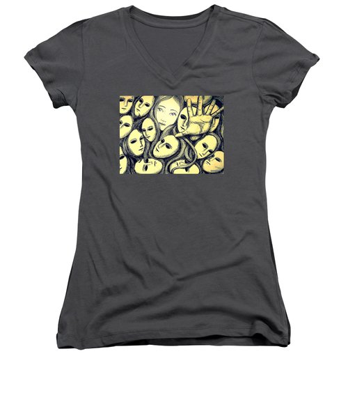 Multiple Personalities Women's V-Neck T-Shirt