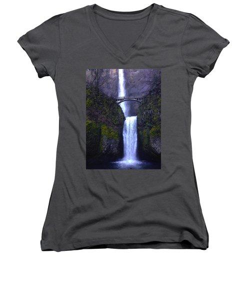 Multnomah Falls Women's V-Neck