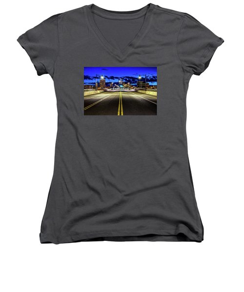 Murray Morgam Bridge During Blue Hour In Hdr Women's V-Neck