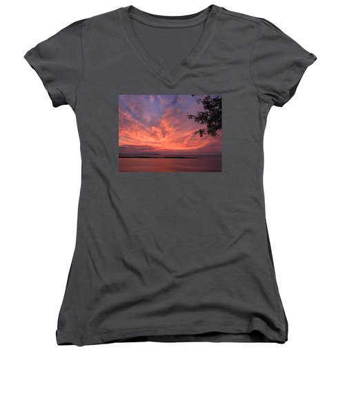 Muscongus Sound Sunrise Women's V-Neck