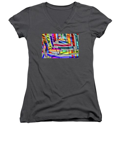 Museum Atrium Art Abstract Women's V-Neck