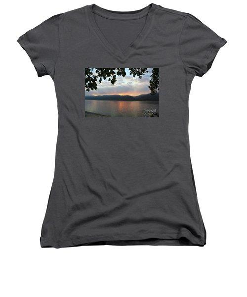 My Birthday Sunrise Women's V-Neck T-Shirt